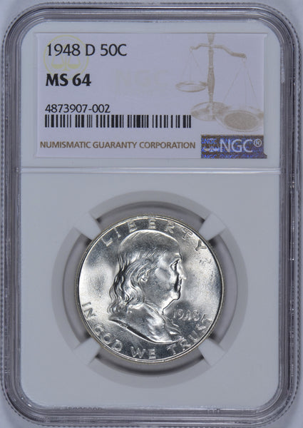 1948-D Franklin Half Dollar NGC MS-64