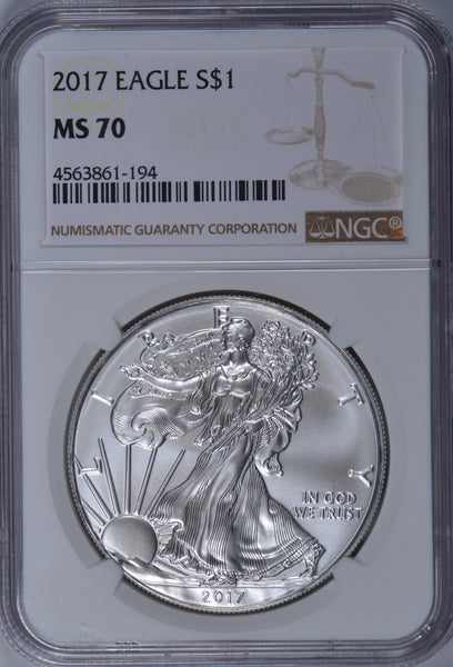 2017 1 Oz American Silver Eagle NGC MS 70