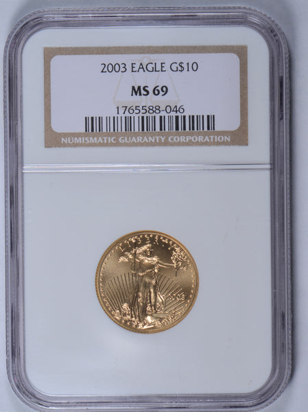 2003 1/4 oz American Gold Eagle NGC MS-69