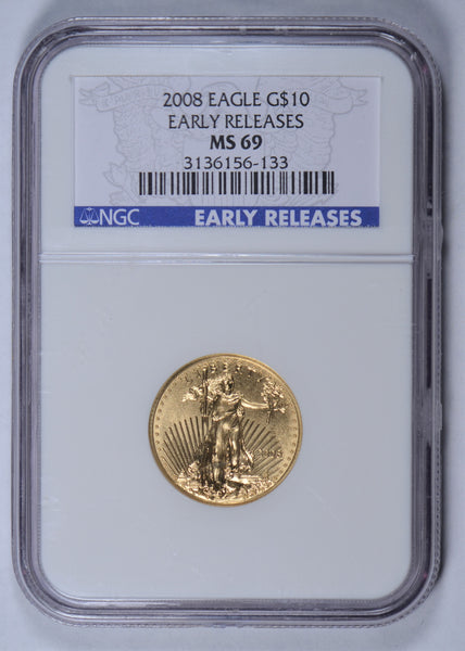 2008 1/4 oz American Gold Eagle NGC MS-69