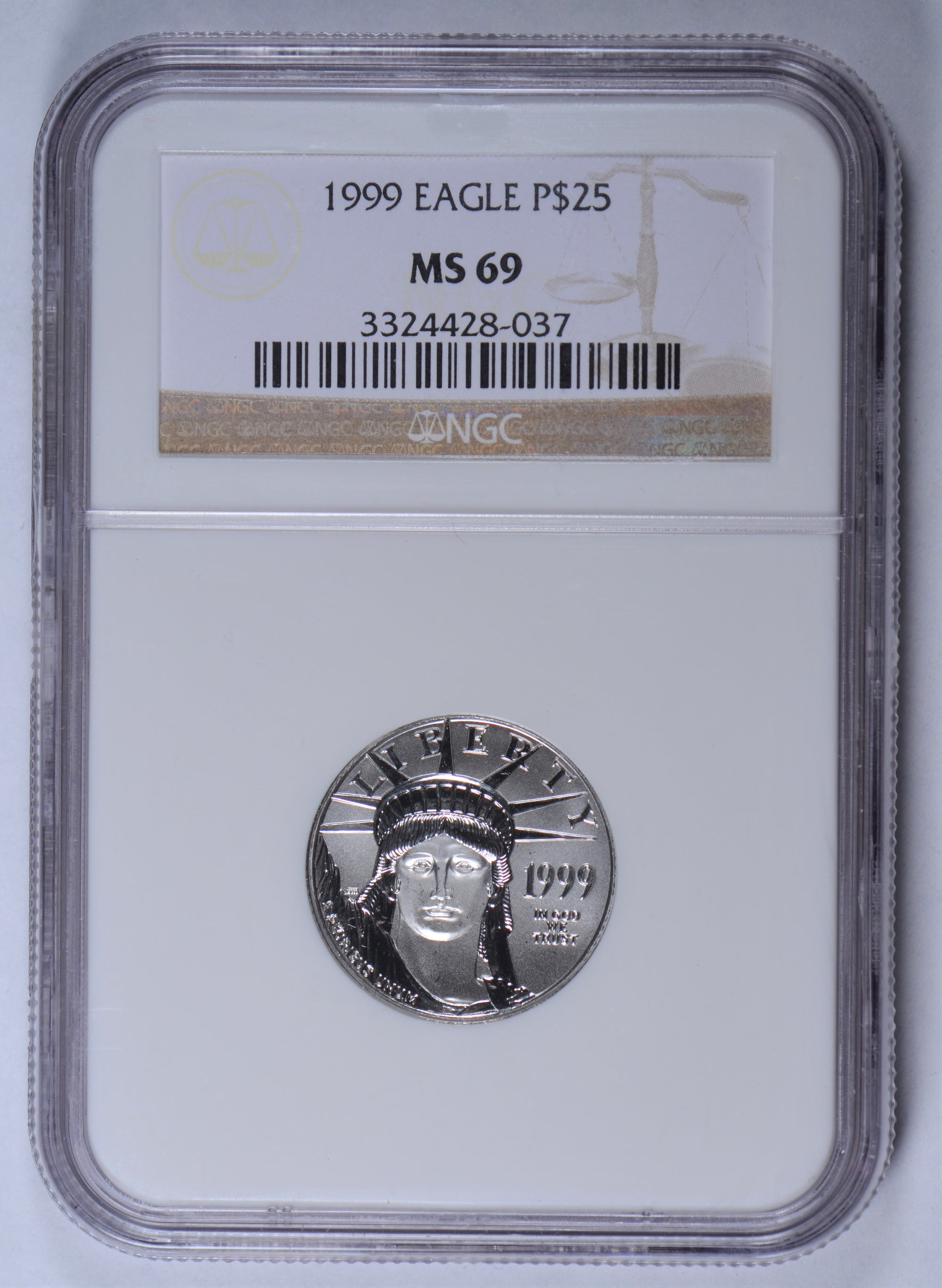 1999 1/4 oz American Platinum Eagle NGC MS69