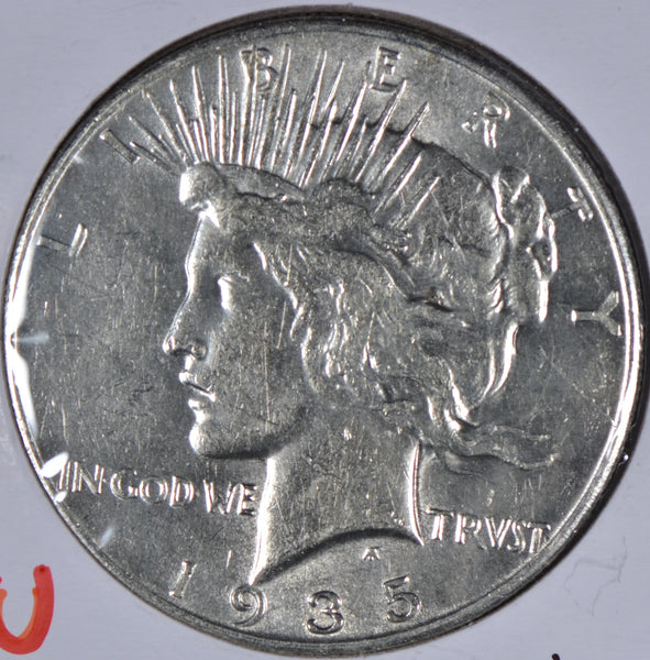 1935 Peace Dollar About Uncirculated