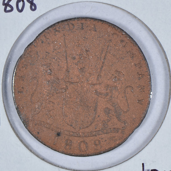 1808 East India Company X. Cash Coin Very Fine