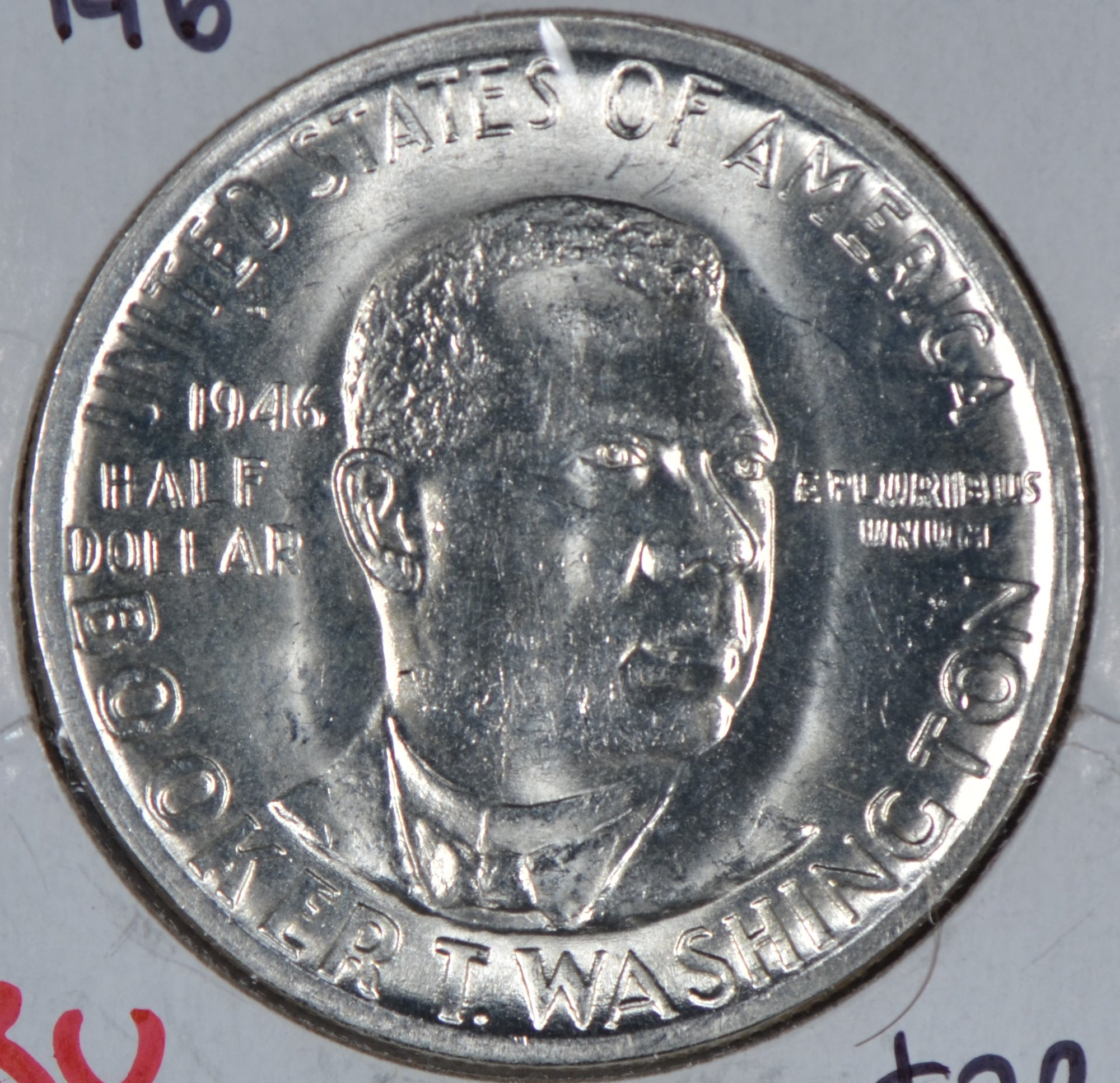 1946 Booker T. Washington Silver Commemorative Half Dollar Mint State