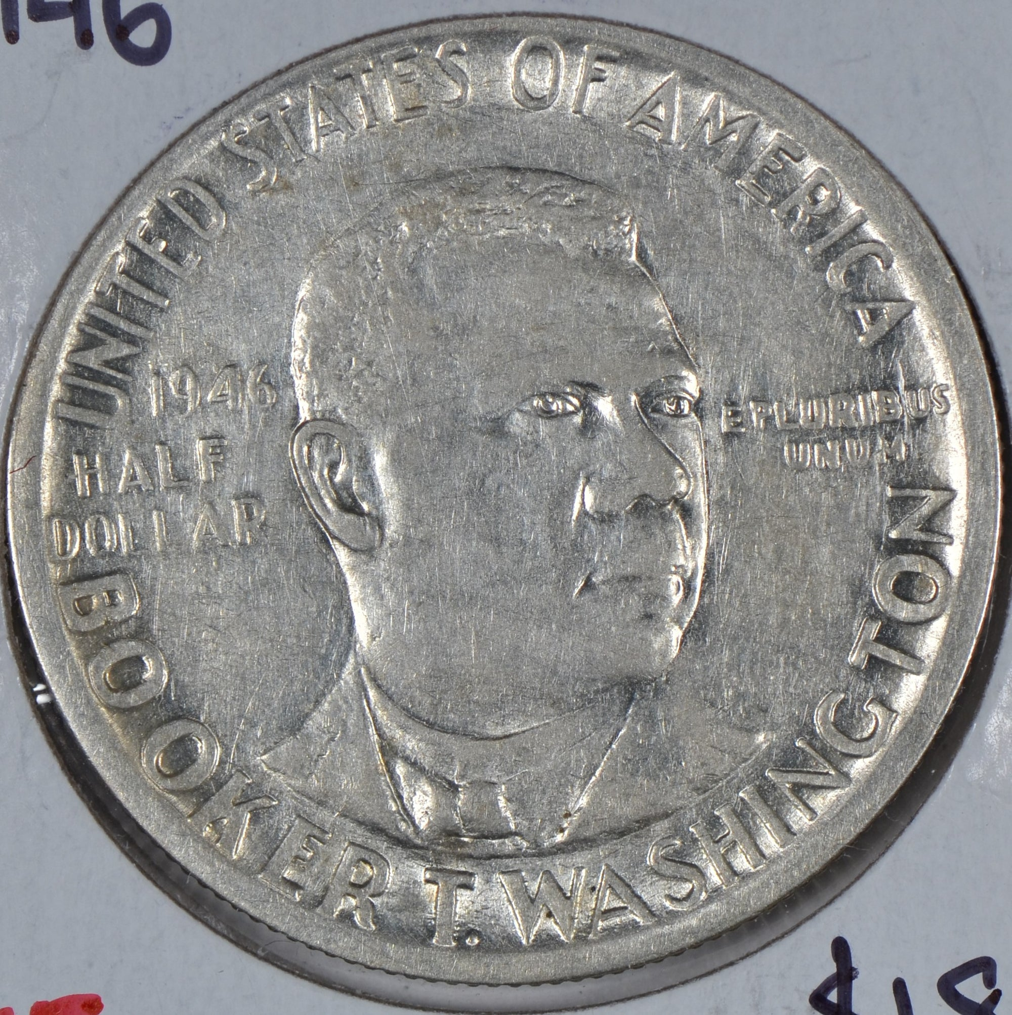 1946 Booker T. Washington Silver Commemorative Half Dollar Extra Fine