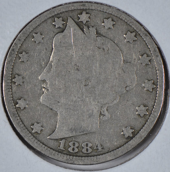 1884 Liberty Head V Nickel Good Condition #191519