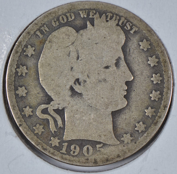 1905 Barber Quarter About Good Condition #195820