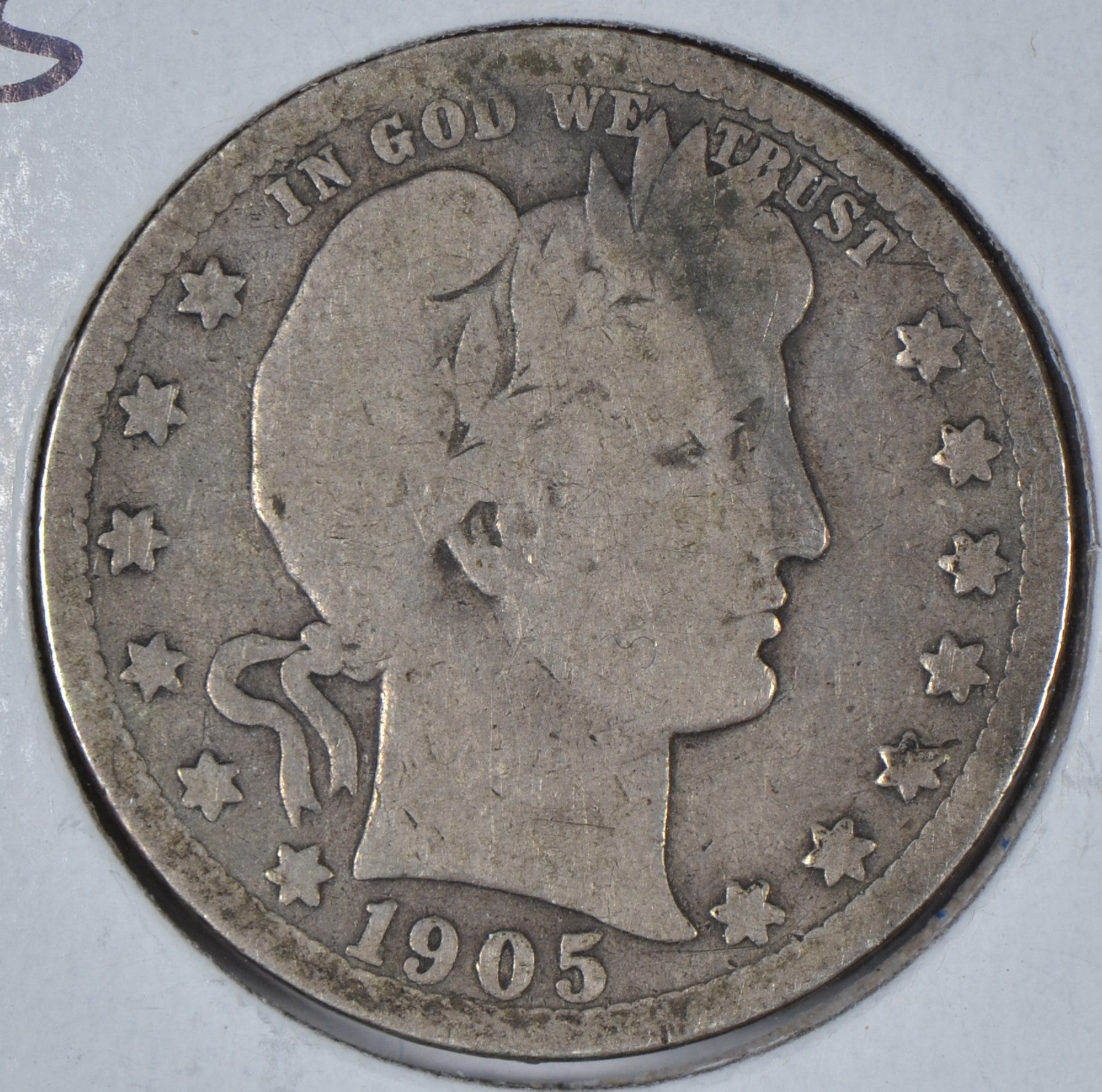 1905-S Barber Quarter Good