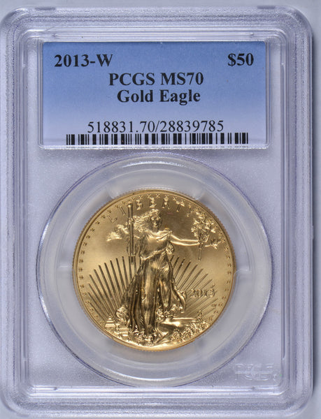 2013-W 1 oz American Gold Eagle PCGS MS-70