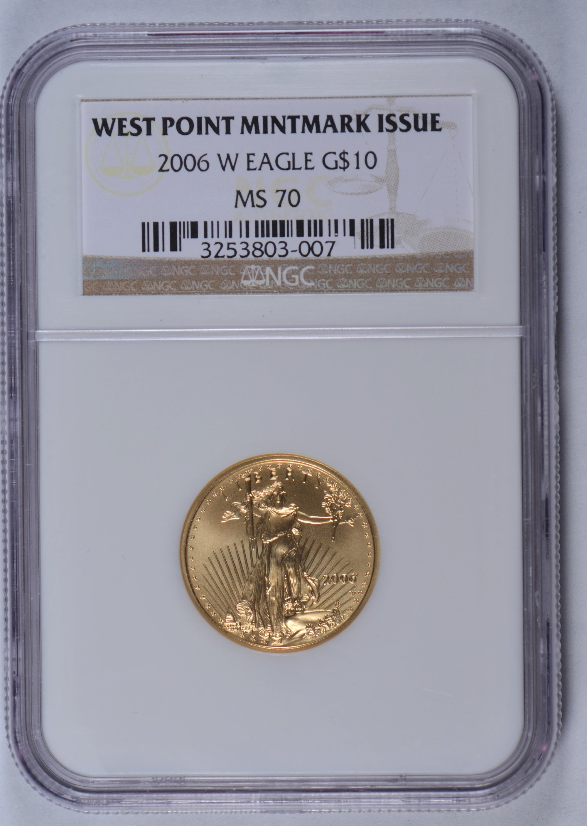 2006-W 1/4 oz American Gold Eagle NGC MS70