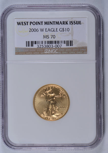 2006-W 1/4 oz American Gold Eagle NGC MS-70