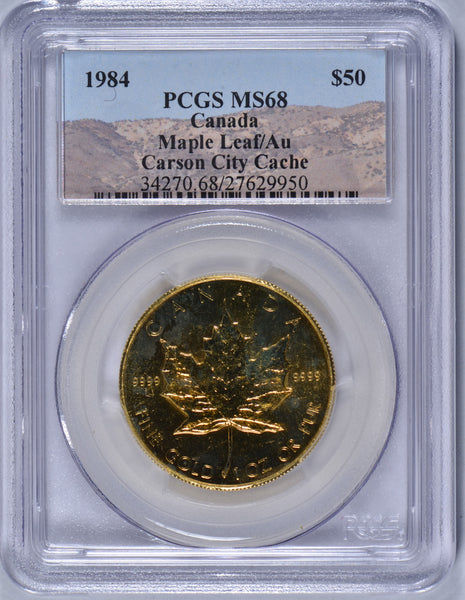 1984 1 oz Canadian Gold Maple PCGS MS-68