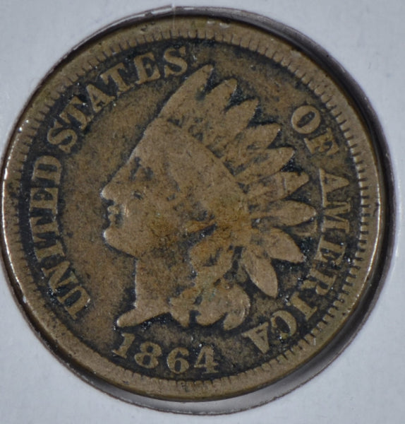 1864 Indian Cent, Copper Nickel, Very Good