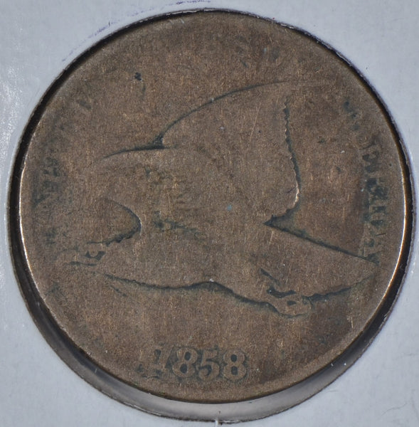 1858 Flying Eagle Cent Good