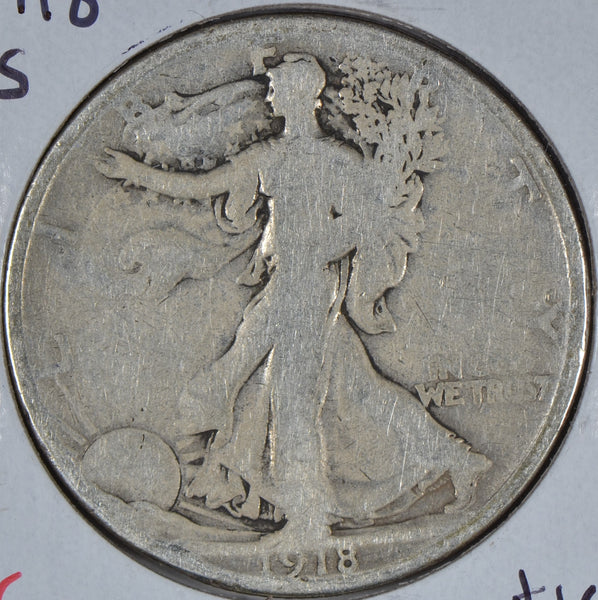 1918-S Walking Liberty Half Dollar Good