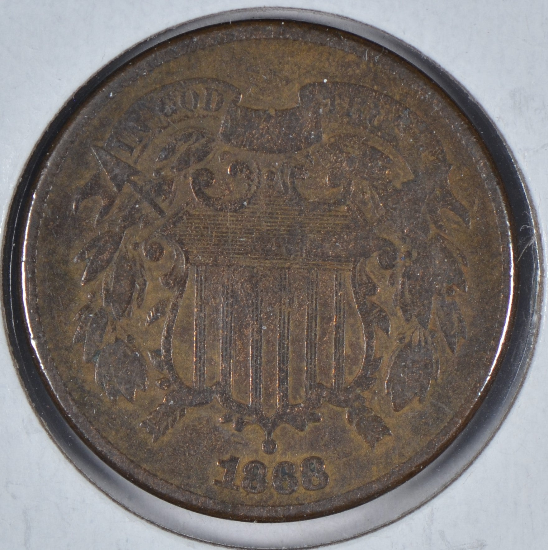 1868 Two Cent Piece Very Good
