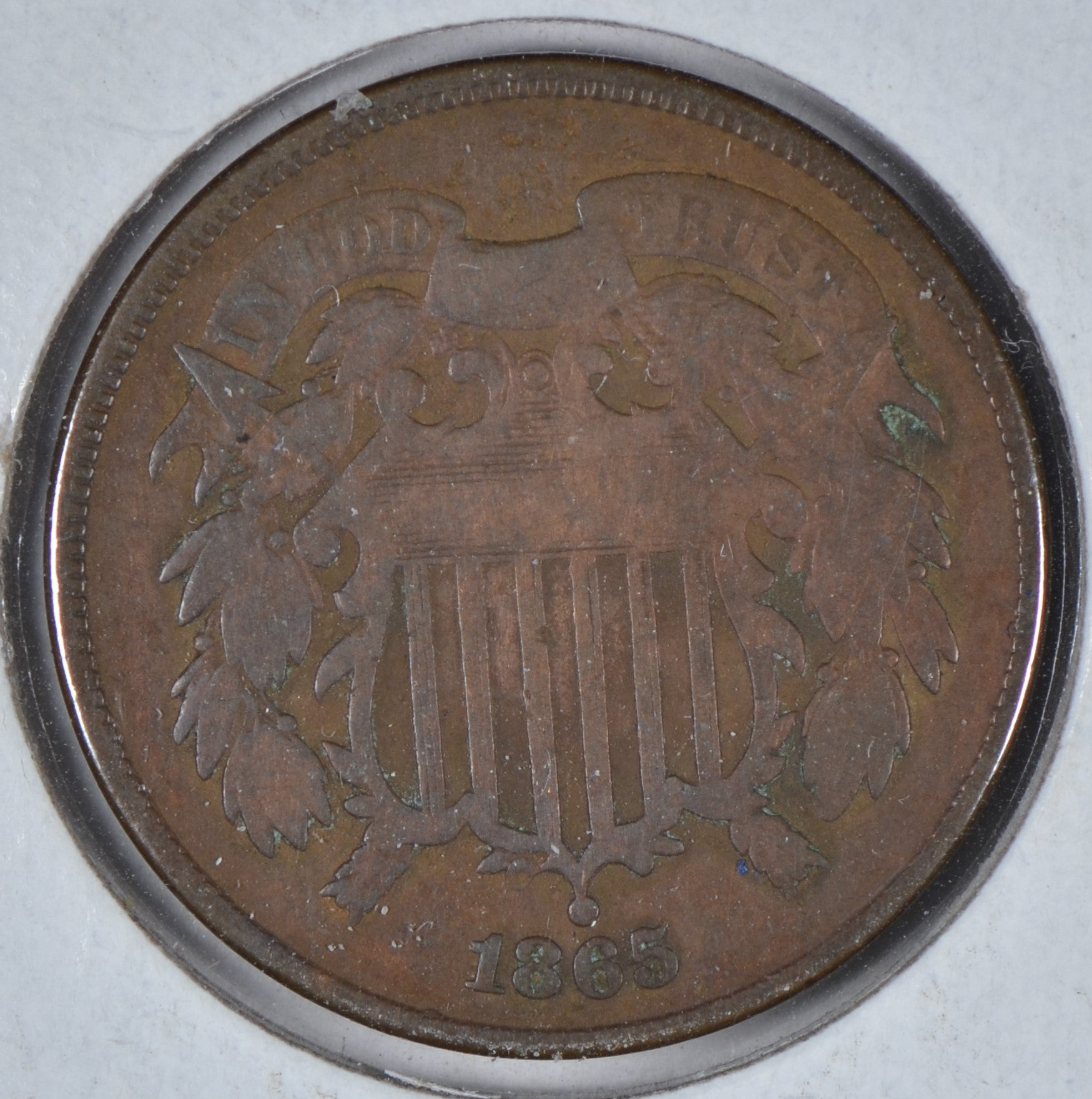 1865 Two Cent Piece Very Good