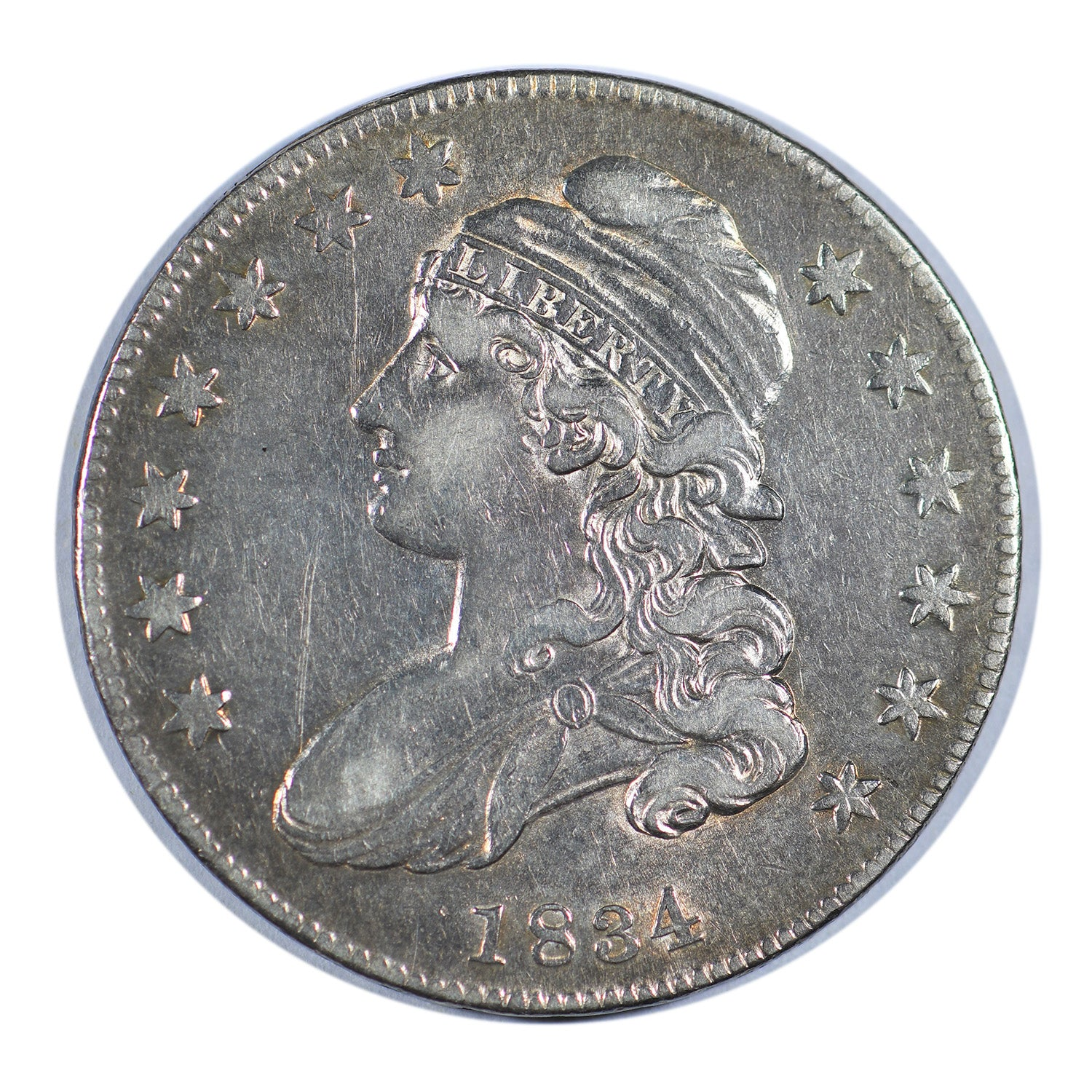 1834 Capped Bust Half Dollar Small Date/Letters Very Fine Condition