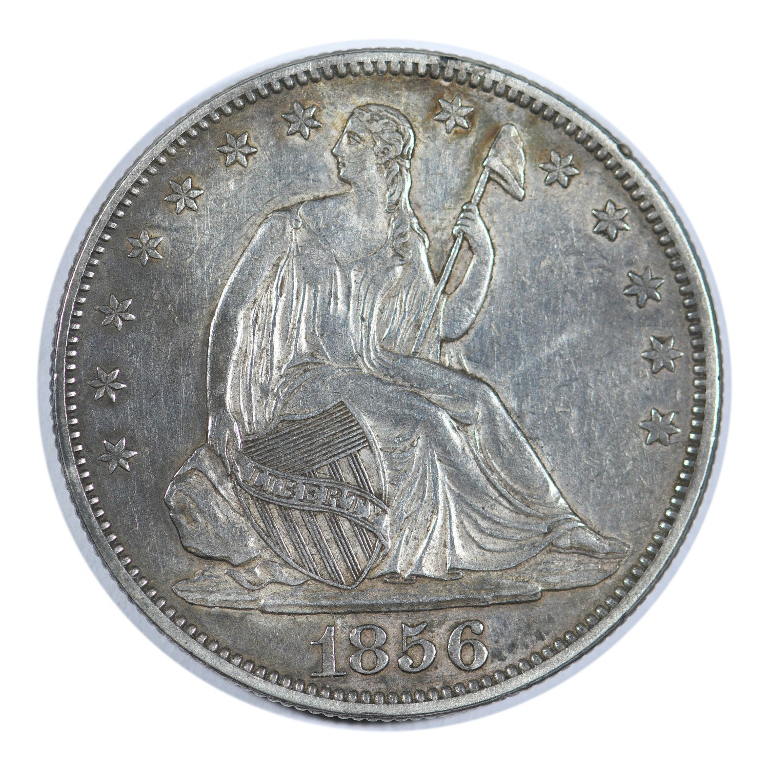 1856 Seated Liberty Half Dollar Extra Fine Condition