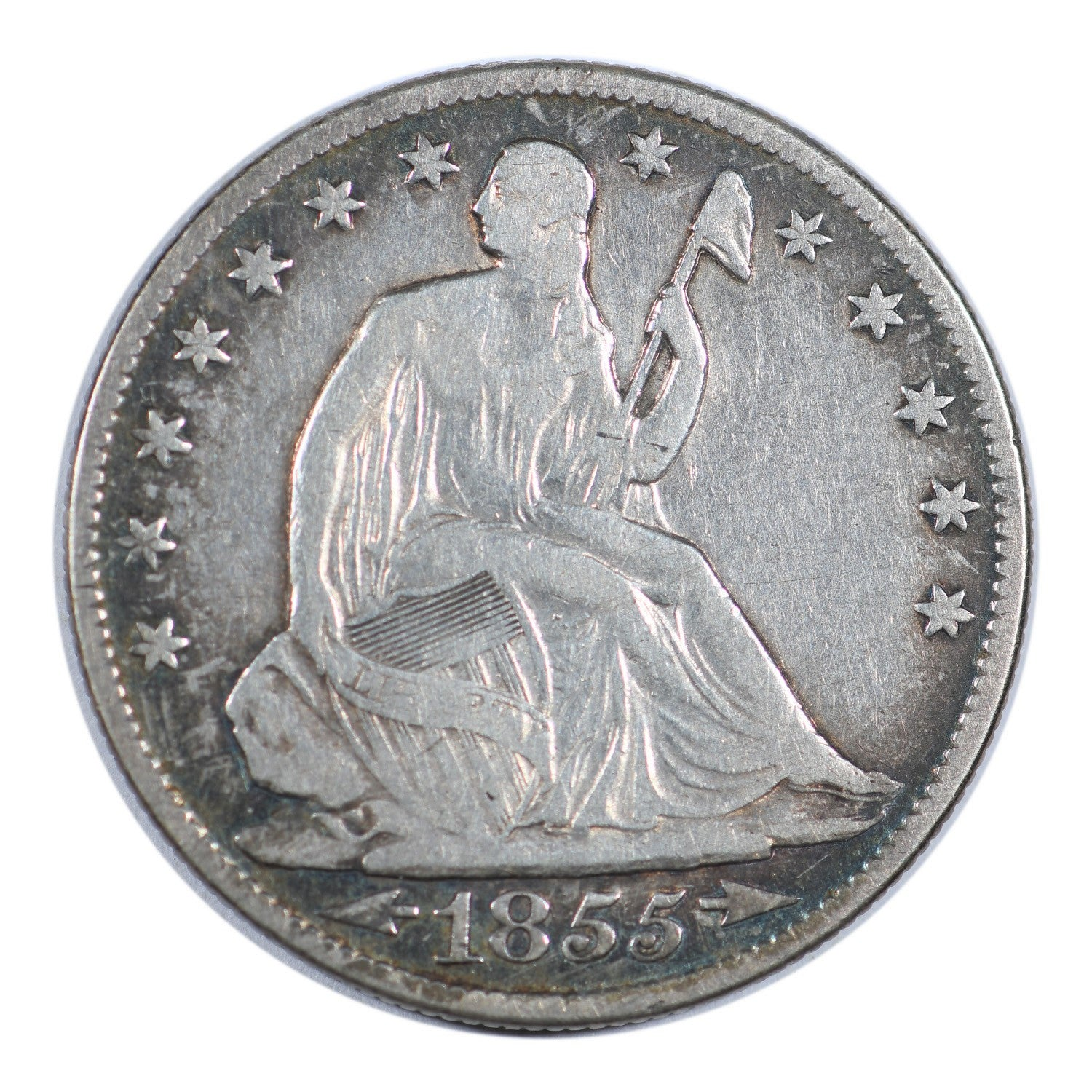 1855-O Seated Liberty Half Dollar Fine Condition