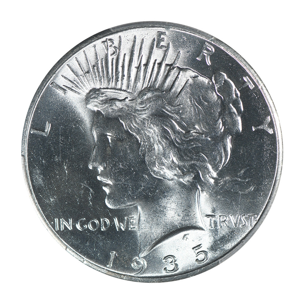 1935 Peace Dollar PCGS MS63