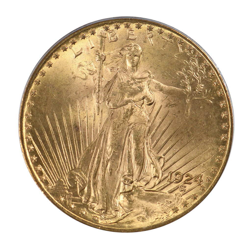 1924 $20 Gold Saint Gaudens Double Eagle PCGS MS65