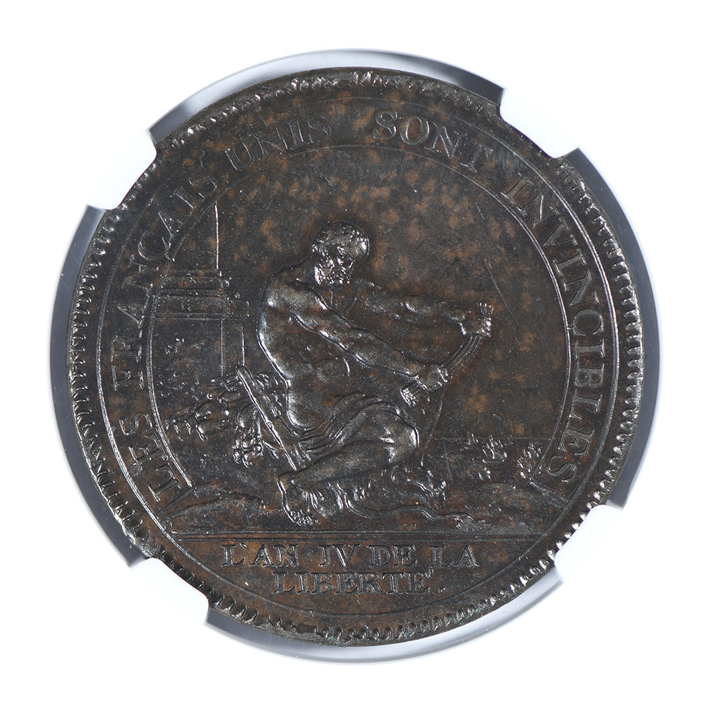 1792 France 5S Maz-163 Bronze Medal NGC MS63BN
