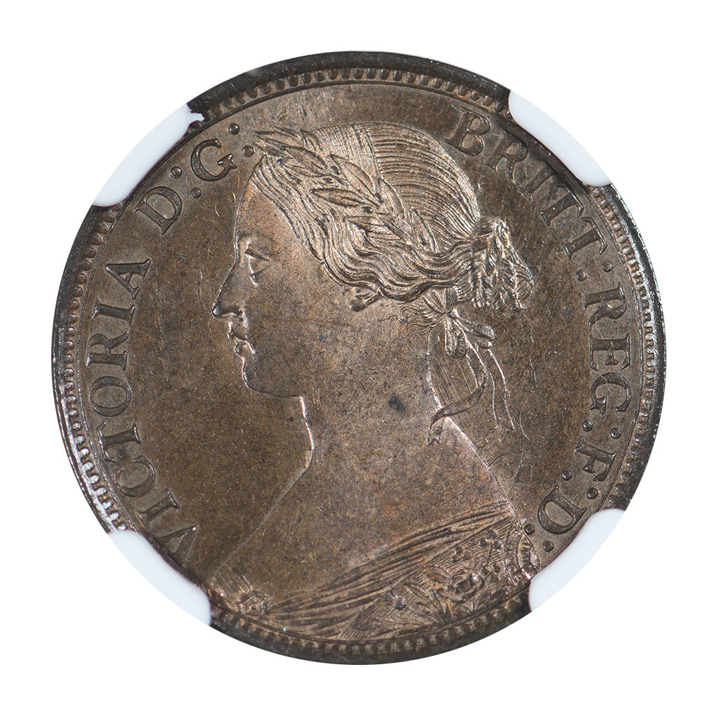 1864 Nova Scotia 1/2 Cent NGC MS64BN