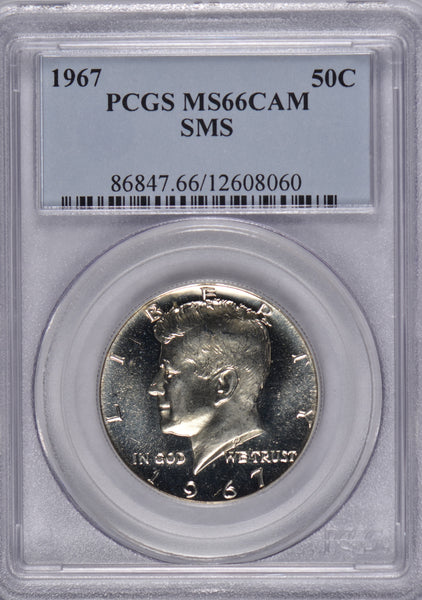1967 Kennedy Half Dollar PCGS MS66CAM
