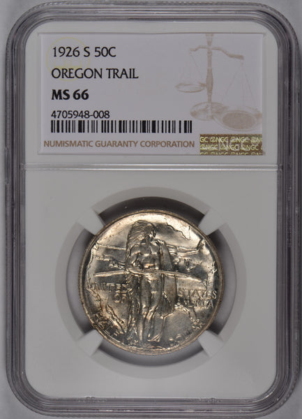 1926-S Oregon Trail Silver Commemorative Half Dollar NGC MS-66 #188968