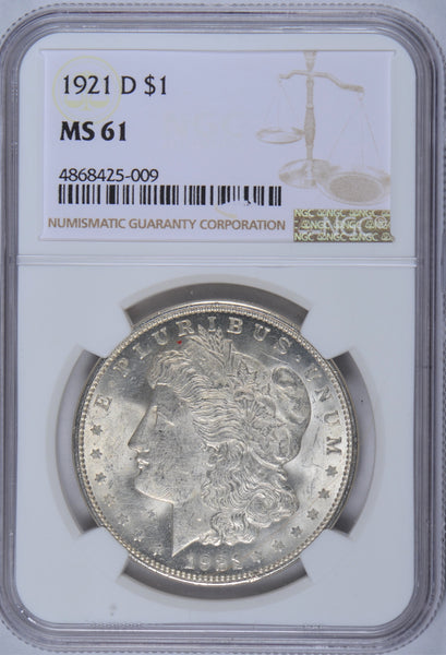 1921-D Morgan Dollar NGC MS61
