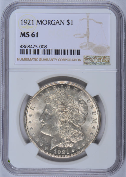 1921 Morgan Dollar NGC MS-61
