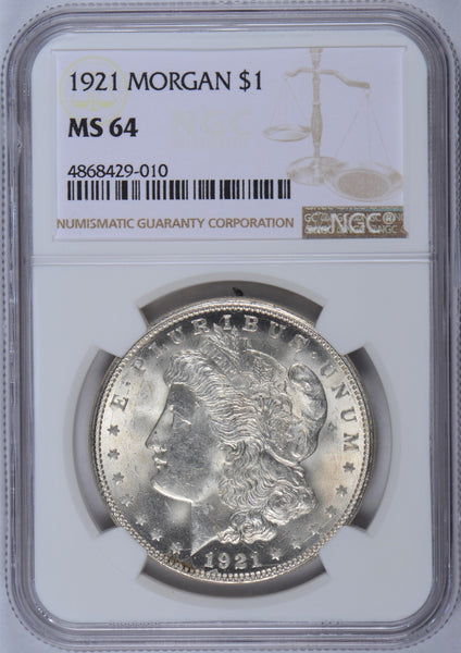 1921 Morgan Dollar NGC MS-64