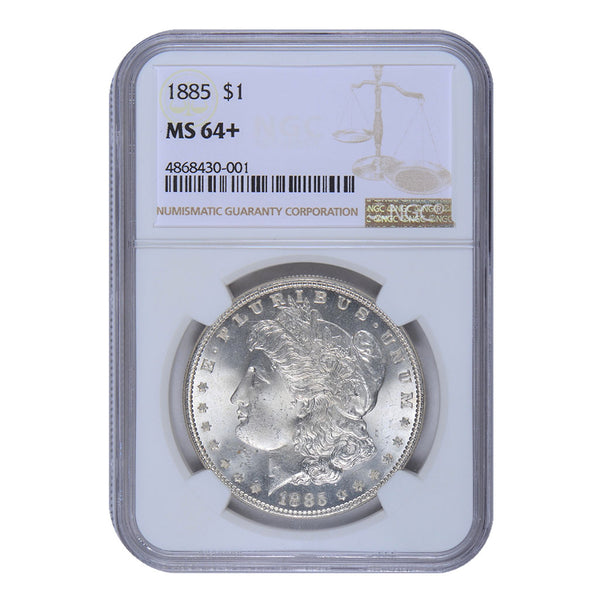 1885 Morgan Dollar NGC MS-64+ #186682