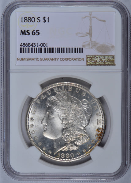 1880-S Morgan Dollar NGC MS65