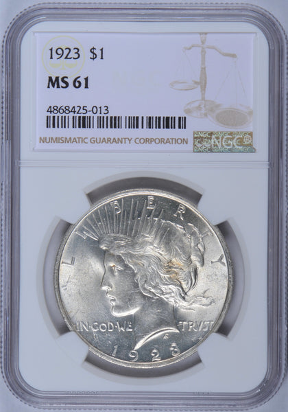 1923 Peace Dollar NGC MS-61