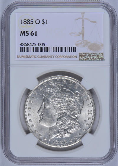 1885-O Morgan Dollar NGC MS61
