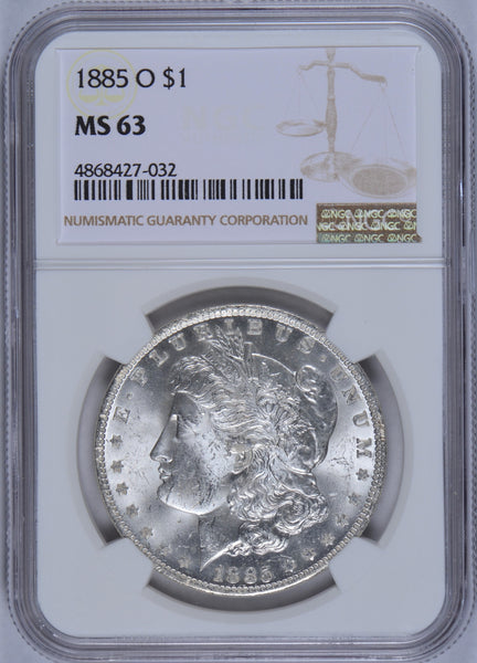 1885-O Morgan Dollar NGC MS63