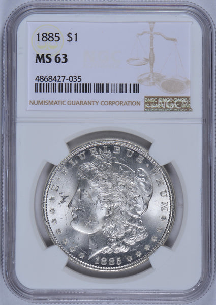1885 Morgan Dollar NGC MS-63