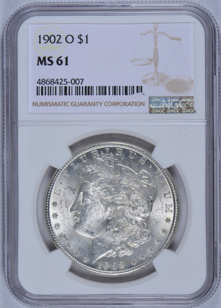 1902-O Morgan Dollar NGC MS-61