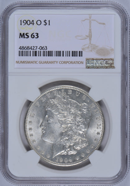 1904-O Morgan Dollar NGC MS-63