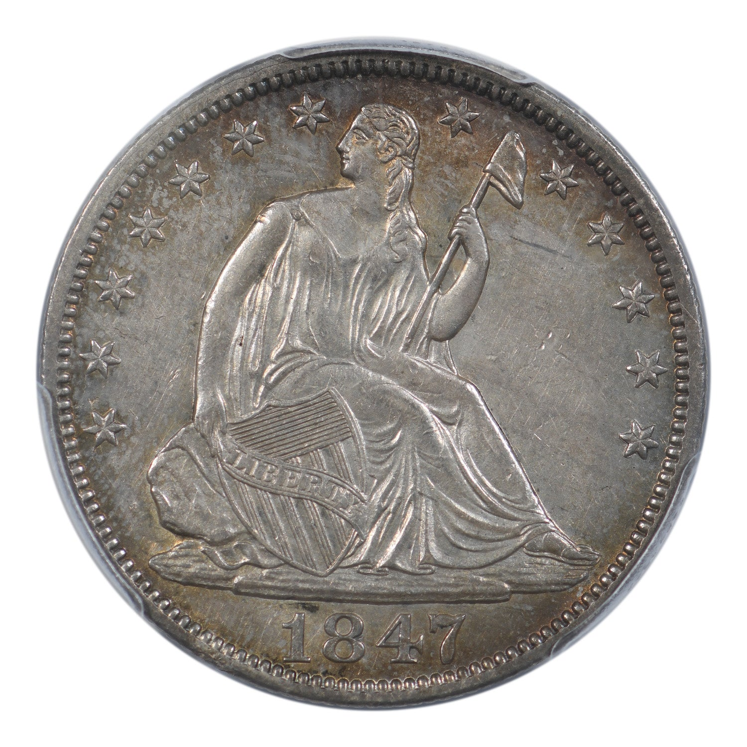 1847 Seated Liberty Half Dollar PCGS AU58