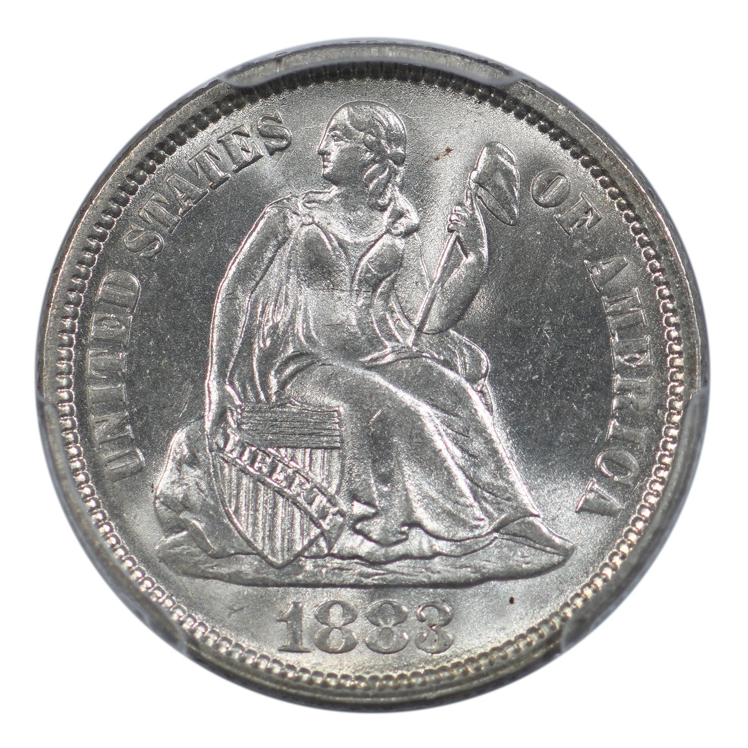 1883 Seated Liberty Dime PCGS MS65