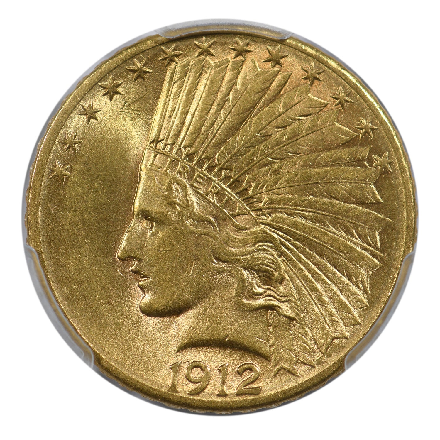 1912-S $10 Gold Indian Eagle PCGS AU58