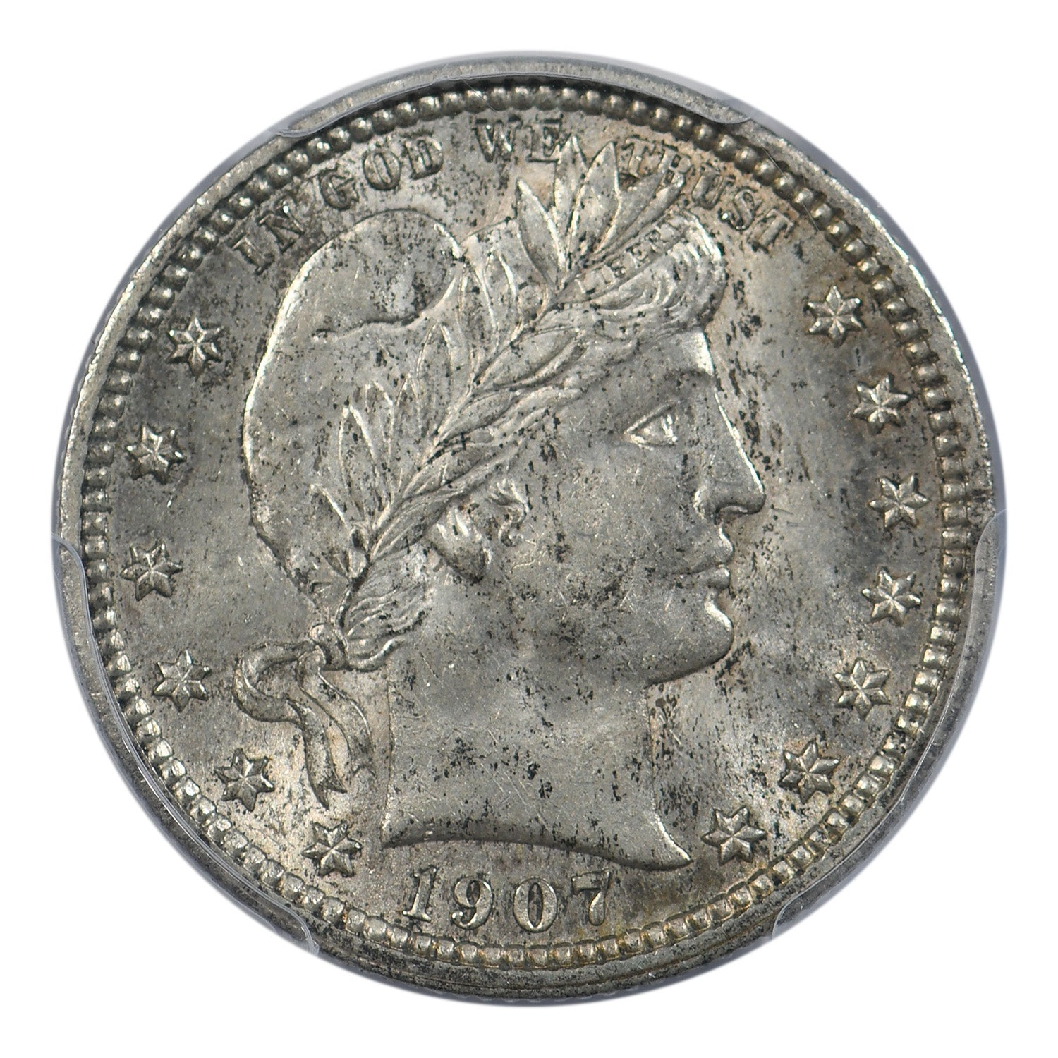 1907 Barber Quarter PCGS MS62