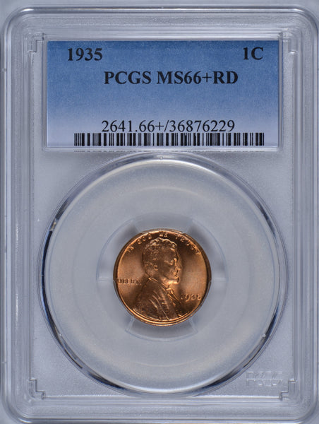1935 Lincoln Cent PCGS MS-66+RD #184441