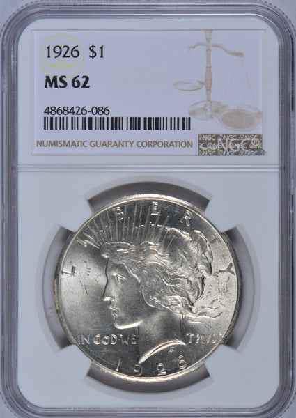 1926 Peace Dollar NGC MS62