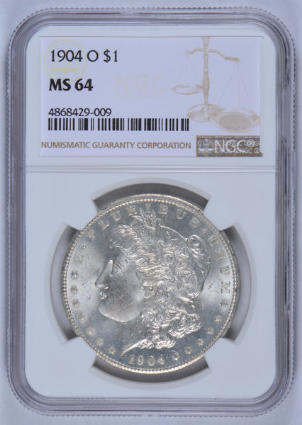 1904 O Morgan Dollar NGC MS-64#185701