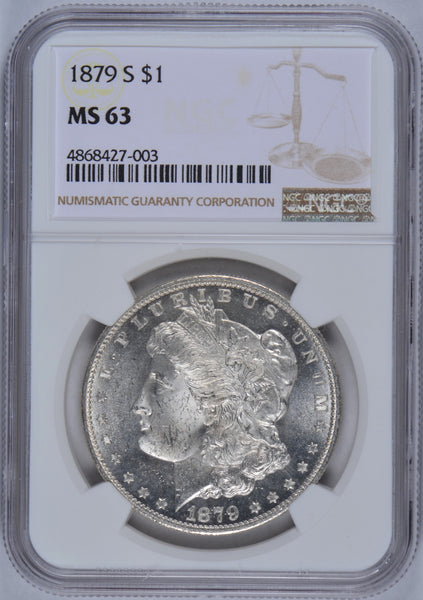 1879-S Morgan Dollar NGC MS63