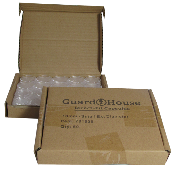 Dime 18mm Direct-Fit Guardhouse coin holders - (S dia) / 50 per box.